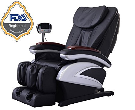Electric Full Body Shiatsu Massage Chair Recliner w/Heat Stretched Foot Rest