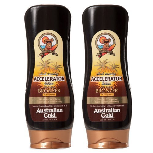 Australian Gold Dark Tanning Accelerator Lotion with Bronzer