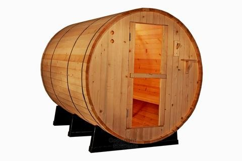 Canadian Red Cedar Wood 6' Foot Outdoor Barrel Sauna
