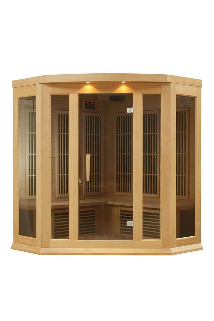 DYNAMIC SAUNAS AMZ-MX-K356-01 Maxxus Reims 3-Person Corner Far Infrared Sauna
