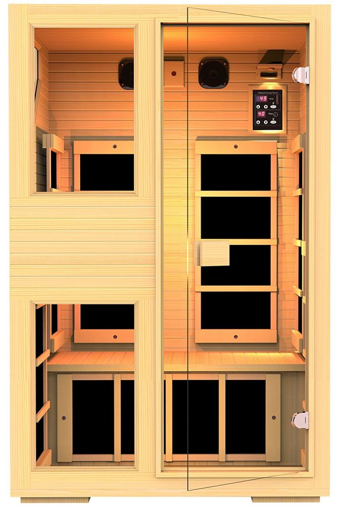 JNH Lifestyles NE2HB1 ENSI Collection 2 Person NO EMF Infrared Sauna