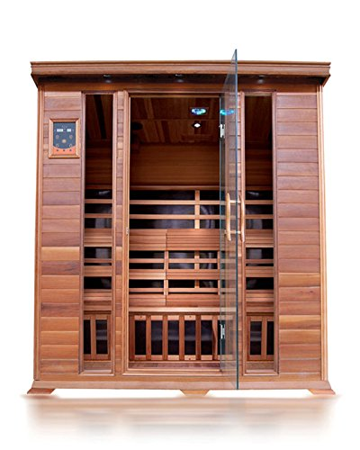 SunRay Sequioa 4 Person Infrared Cedar Sauna with Carbon Heaters