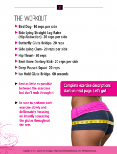 booty blast workout guide